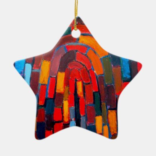 Brick Vault (abstract naive pattern ) Ceramic Ornament