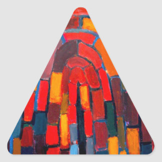 Brick Vault (abstract naive pattern ) Triangle Sticker