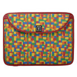 Brick Vector Graphic COLOURFUL RECTANGLES SQU Sleeve For MacBooks