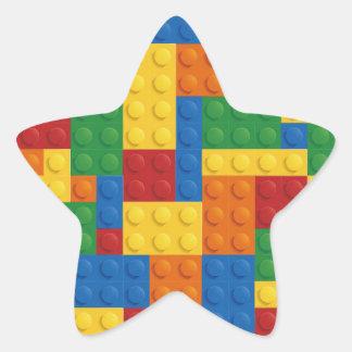Brick Vector Graphic COLOURFUL RECTANGLES SQU Star Sticker