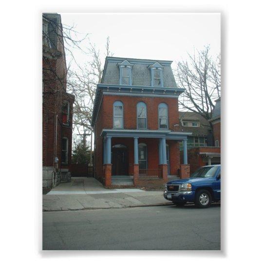 Brick Victorian House in Buffalo New York Photo Print