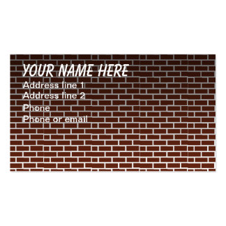 BRICK WALL #1 Double-Sided STANDARD BUSINESS CARDS (Pack OF 100)