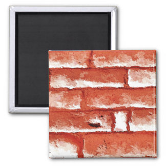 BRICK WALL 2 INCH SQUARE MAGNET