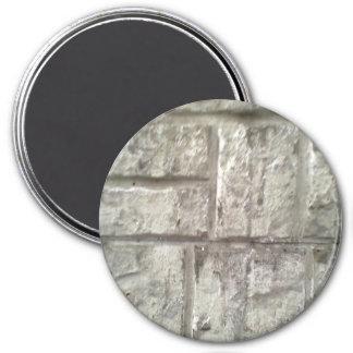 Brick Wall 3 Inch Round Magnet