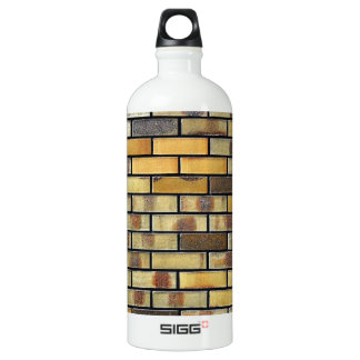 Brick Wall Abstract Antique Junk Style Fashion Art Aluminum Water Bottle