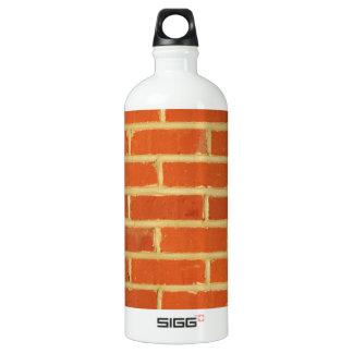 Brick wall aluminum water bottle