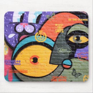 Brick wall Amsterdam Graffiti Mouse Pad