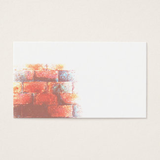 Brick Wall and White Space. Digital Art. Business Card