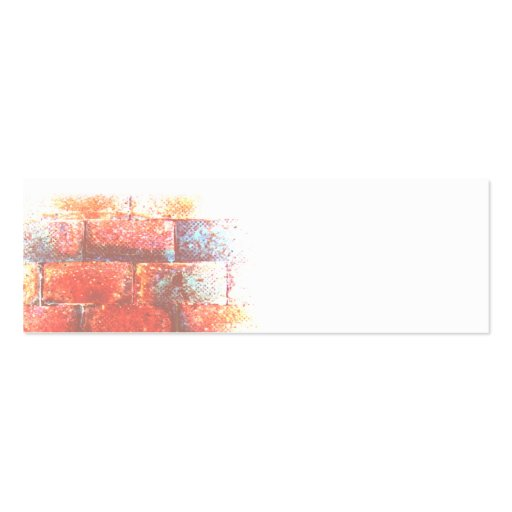 Brick Wall and White Space. Digital Art. Business Card Templates