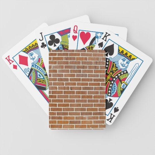 Brick Wall Background Bicycle Playing Cards