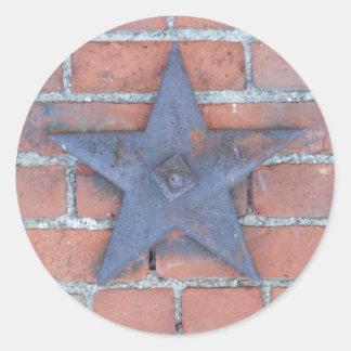 Brick Wall Background Classic Round Sticker