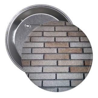 Brick Wall Background Image 3 Inch Round Button
