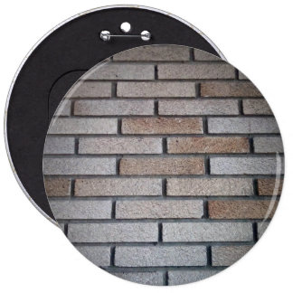 Brick Wall Background Image 6 Inch Round Button