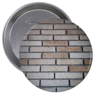Brick Wall Background Image Pinback Button