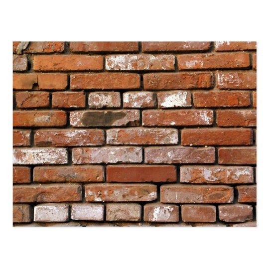 Brick Wall Background Postcard
