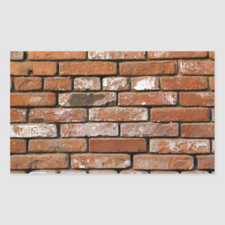 Brick Wall Background Rectangular Sticker