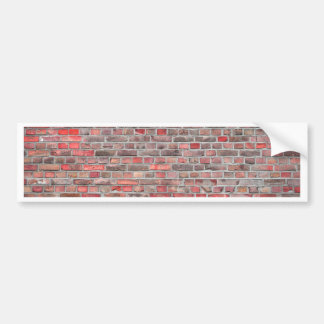 brick wall  background - red vintage stone bumper sticker