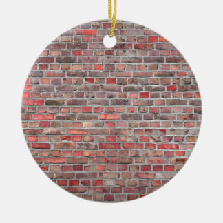 brick wall  background - red vintage stone ceramic ornament