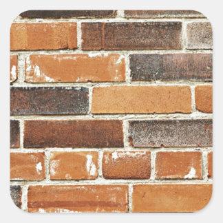Brick wall background square sticker