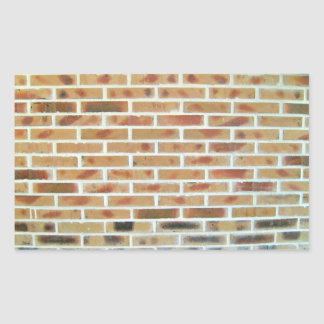 Brick Wall Background With Multi-Colored Bricks Rectangular Sticker