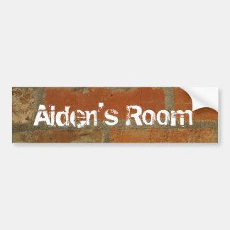 brick wall bedroom door sticker