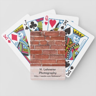 Brick Wall Bicycle Playing Cards