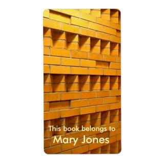 Brick Wall Bookplate Shipping Label