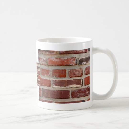 Brick wall brick texture customize the words coffee mug