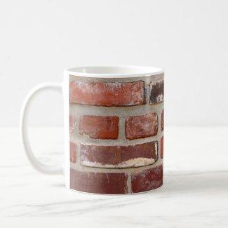 Brick wall brick texture customize the words mug