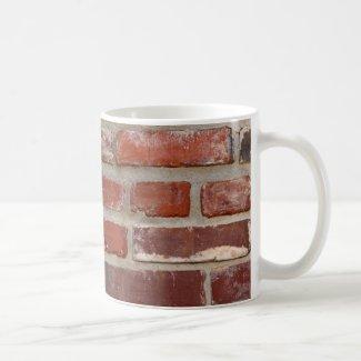 Brick wall brick texture customize the words mugs