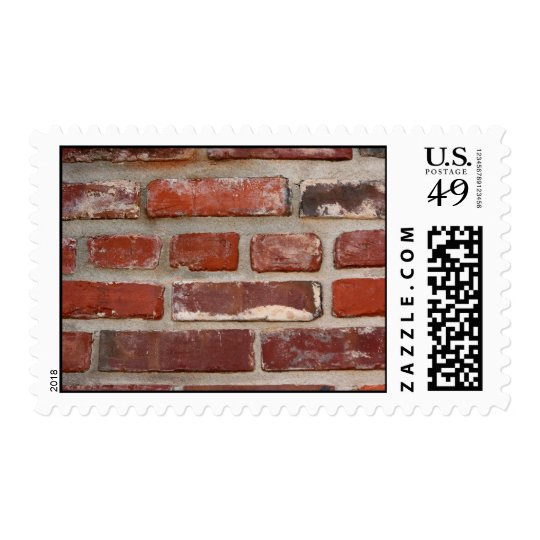 Brick wall brick texture customize the words postage