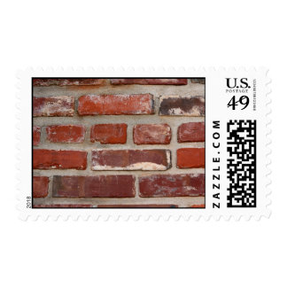 Brick wall brick texture customize the words postage stamp