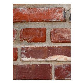 Brick wall brick texture customize the words postcard