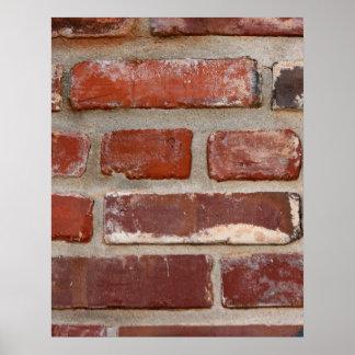 Brick wall brick texture customize the words poster