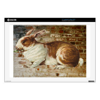 Brick Wall Bunny Rabbit Decal For Laptop