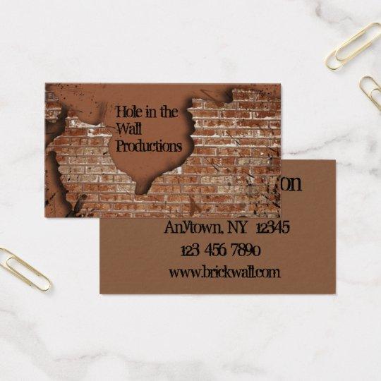 Brick Wall Business Card