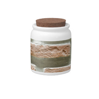 Brick wall candy jar