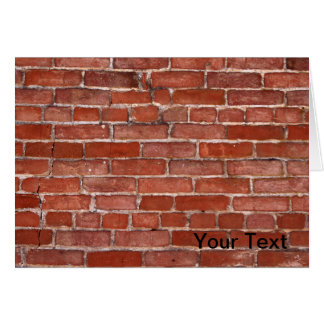 Brick Wall Card