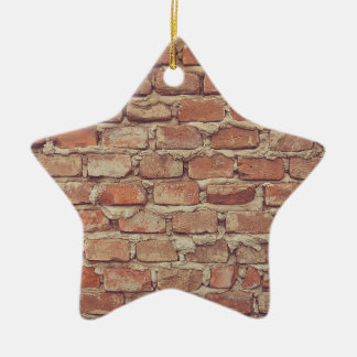 brick wall ceramic ornament