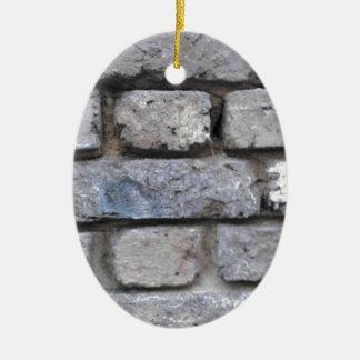 Brick wall ceramic ornament