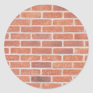Brick wall classic round sticker