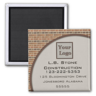 Brick Wall Collection 2 Inch Square Magnet