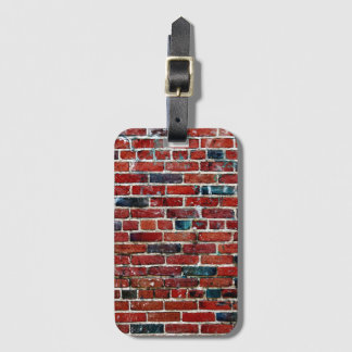 Brick Wall Cool Texture Pattern Bag Tag