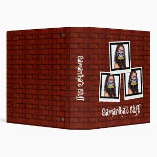 Brick Wall Custom Photo Snapshot Binder