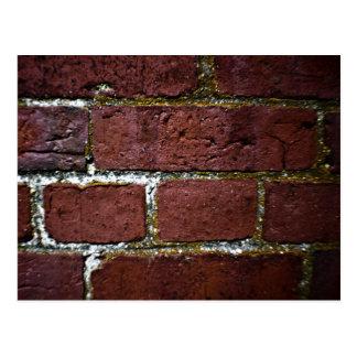 brick wall decay postcard