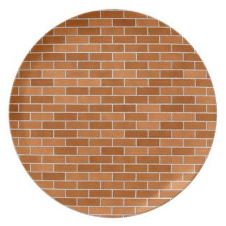 Brick wall design plates