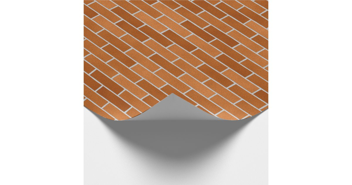 Brick wall design wrapping paper zazzle for Wall design paper