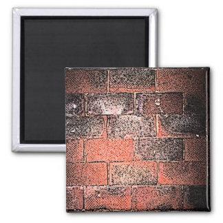 Brick Wall. Digital Art. 2 Inch Square Magnet