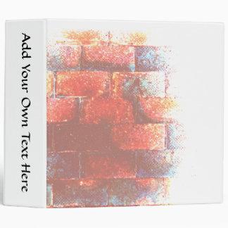 Brick Wall. Digital Art. 3 Ring Binder