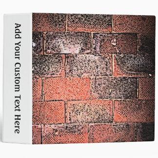 Brick Wall. Digital Art. 3 Ring Binders